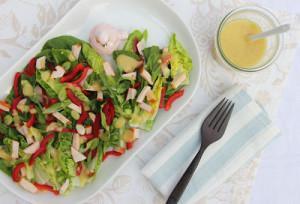 heerlijke salade met honing mosterd dressing