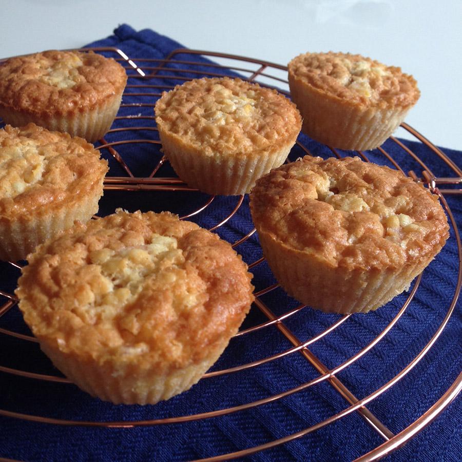 cupcakes met perzik glutenvrij