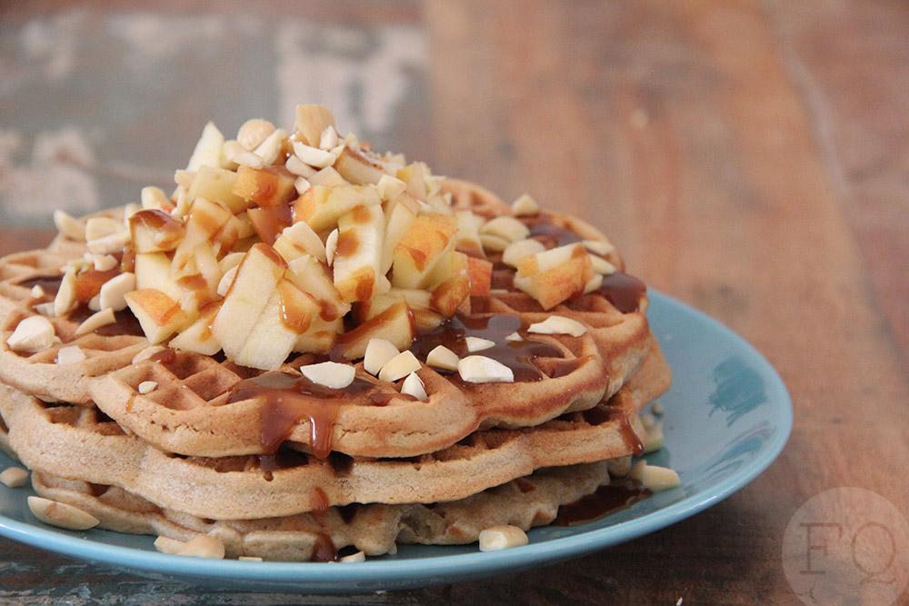 Havermoutwafels appel karamel