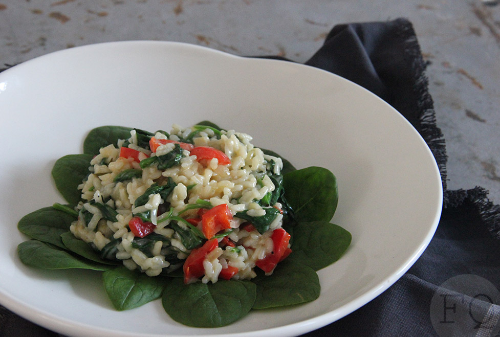 risotto spinazie schapenkaas