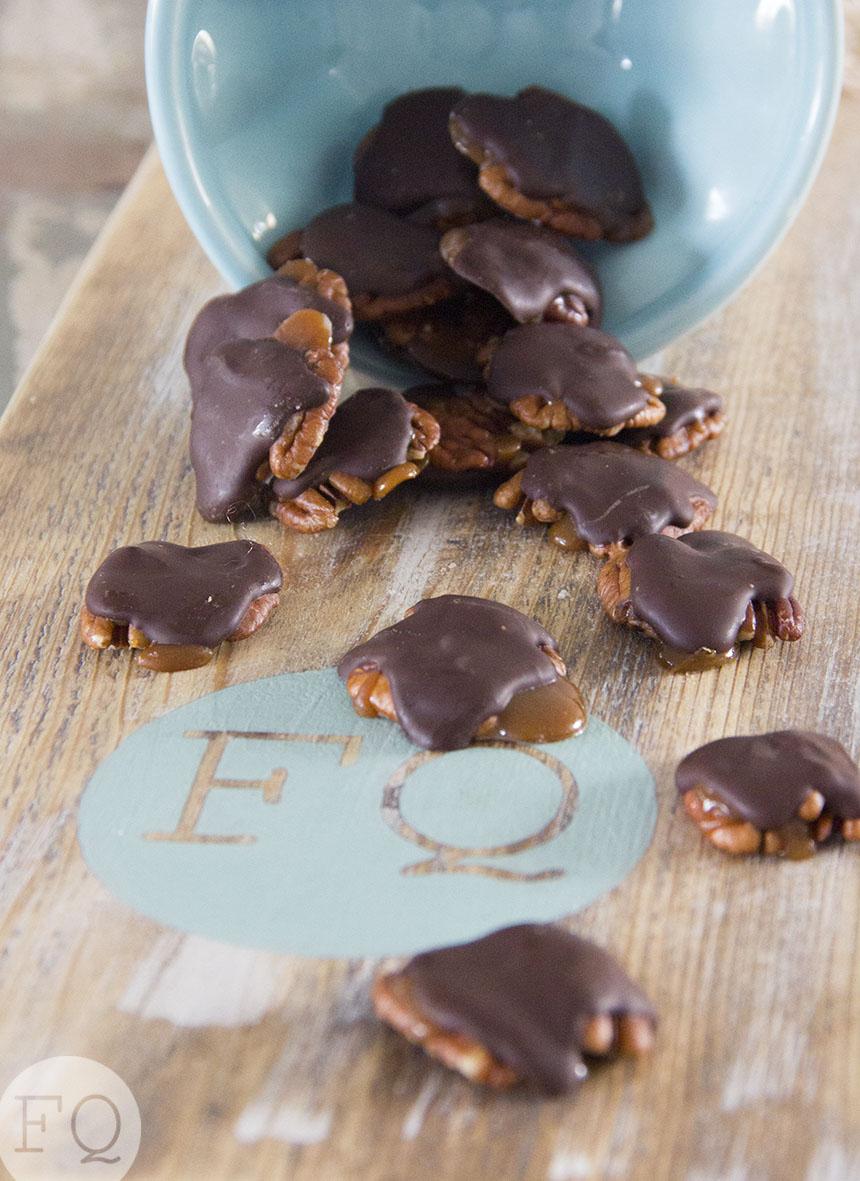 pecan-karamel-chocolade snoepjes