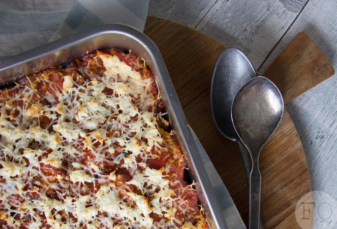 aubergine-feta ovenschotel