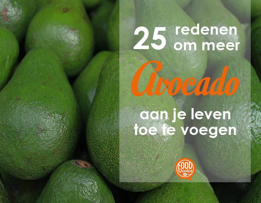 25 redenen avocado