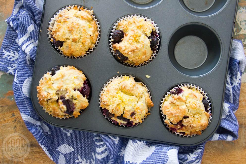 Muffins met blauwe bessen en sinaasappel-1