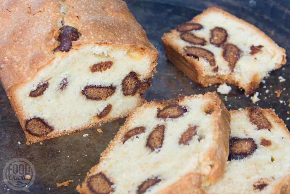 Cake met chocolade kruidnoten