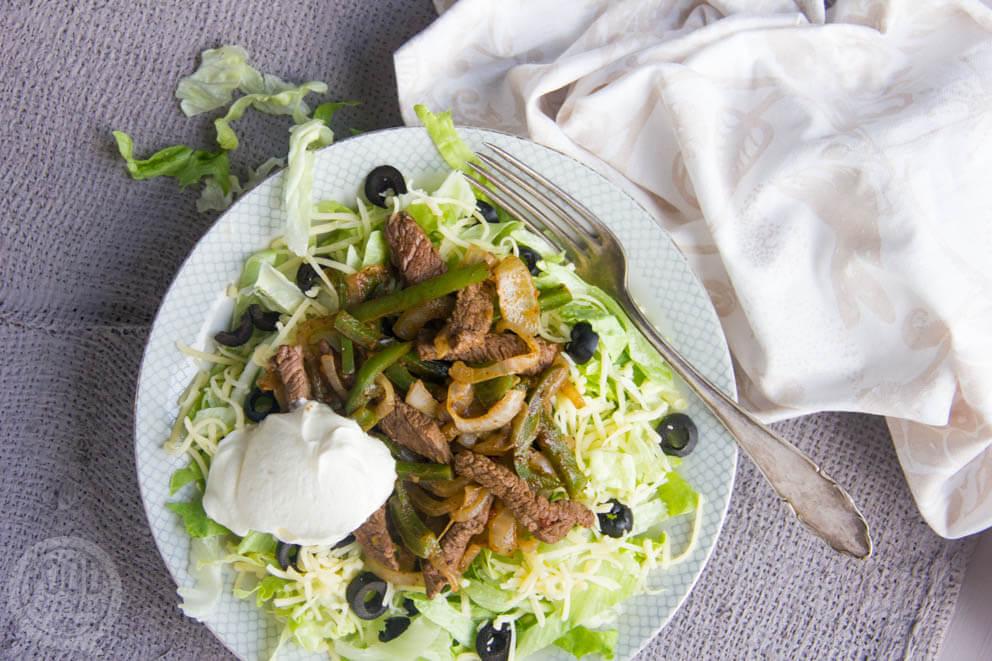 Fajita salade