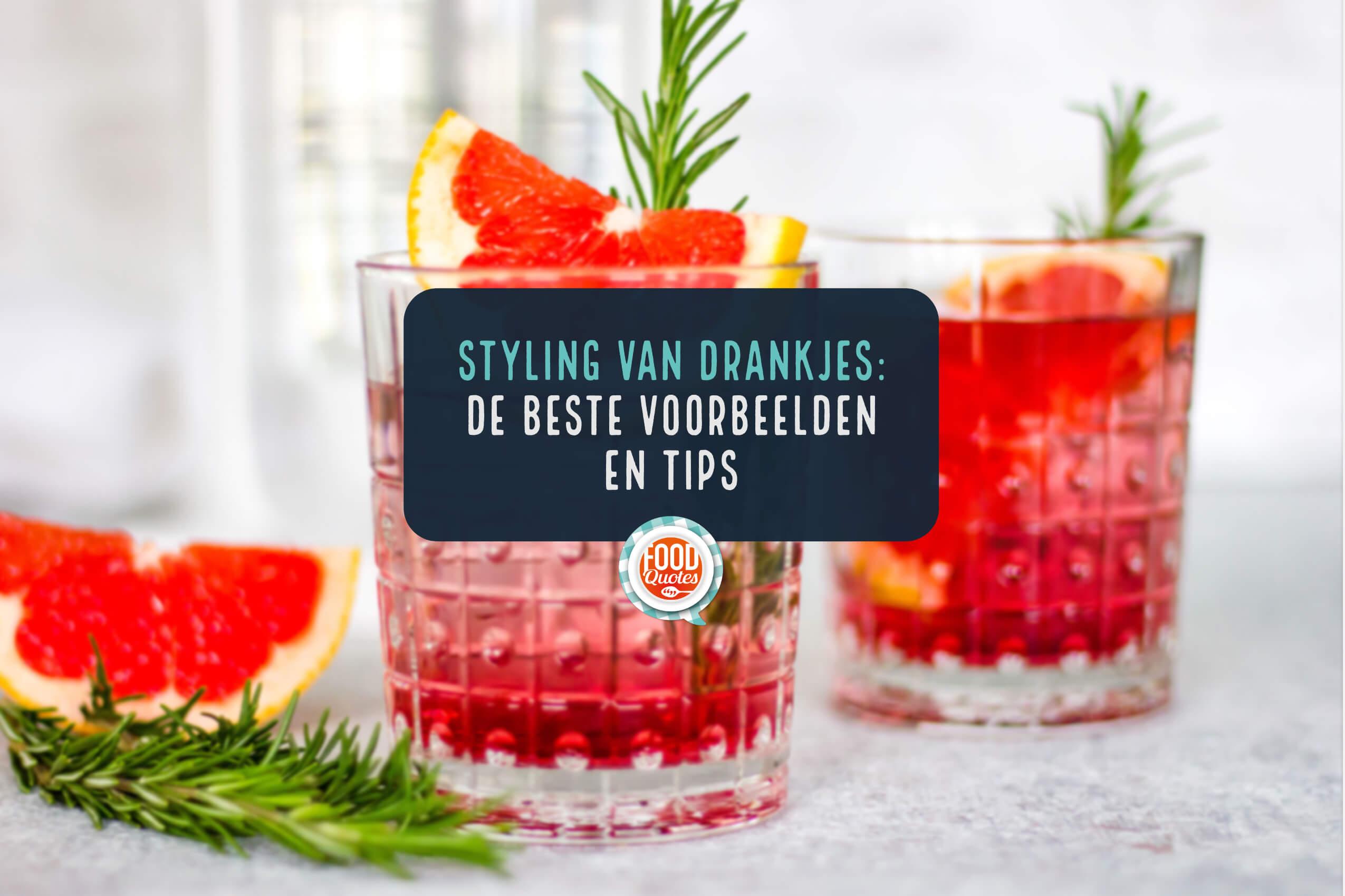 food styling van drankjes