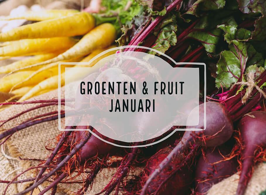 seizoensgroenten en fruit januari